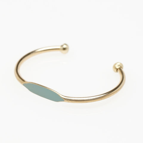 Sea Green ID Bangle Bracelet