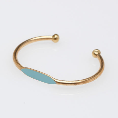 Sky Blue ID Bangle Bracelet