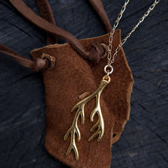 gold root necklace