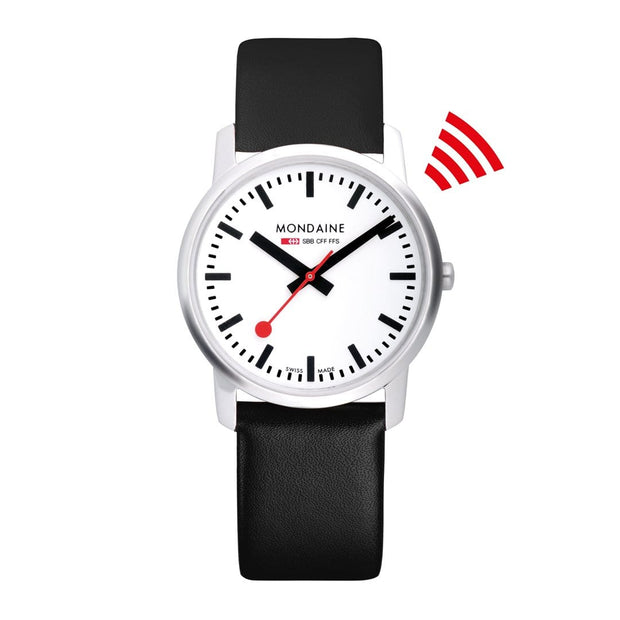 Simply Elegant, 41mm, black leather watch, A638.30350.$ET