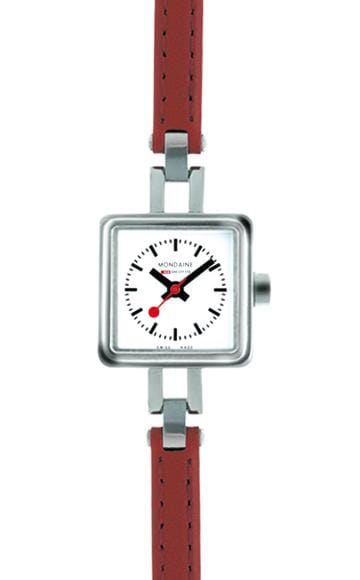 Specials, 20x20mm, red leather watch for women, A666.30339.11SBC