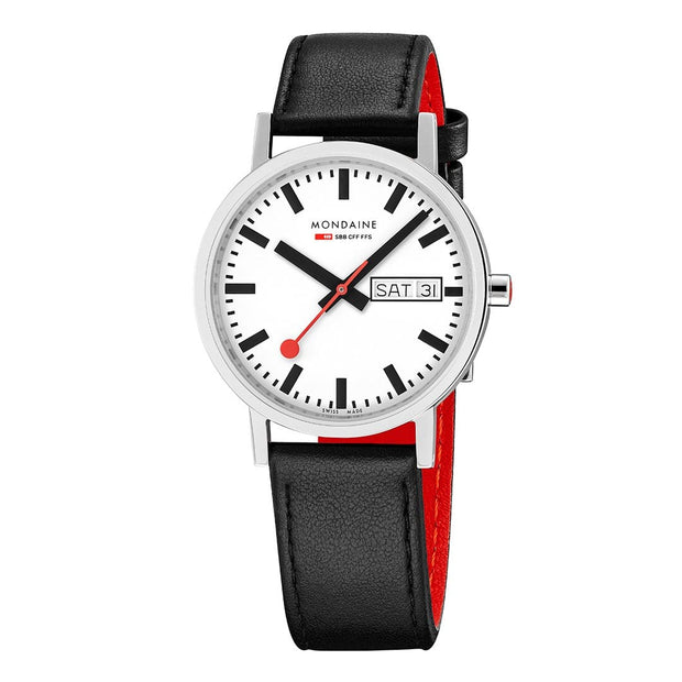 Classic, 36mm, black leather watch, A667.30314.11SBB