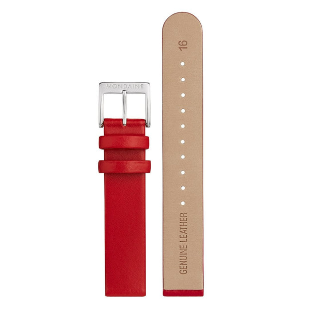 Genuine leather strap, 16mm, FEM.3116.30Q.K