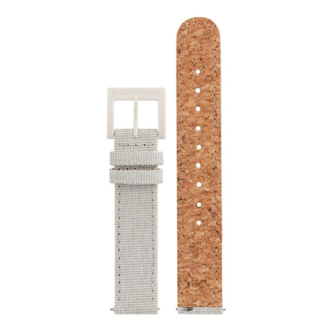 Textile strap with cork lining, 16mm, FTM.3116.80K.K