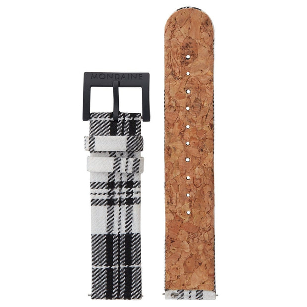 Textile strap with cork lining, 20mm, FTM.3120.20B.K