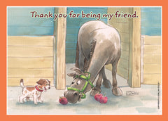 Card: Thank You - Being a Friend