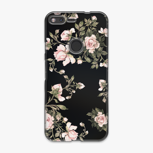 Tough - Phone Case with Flowers on Black Background