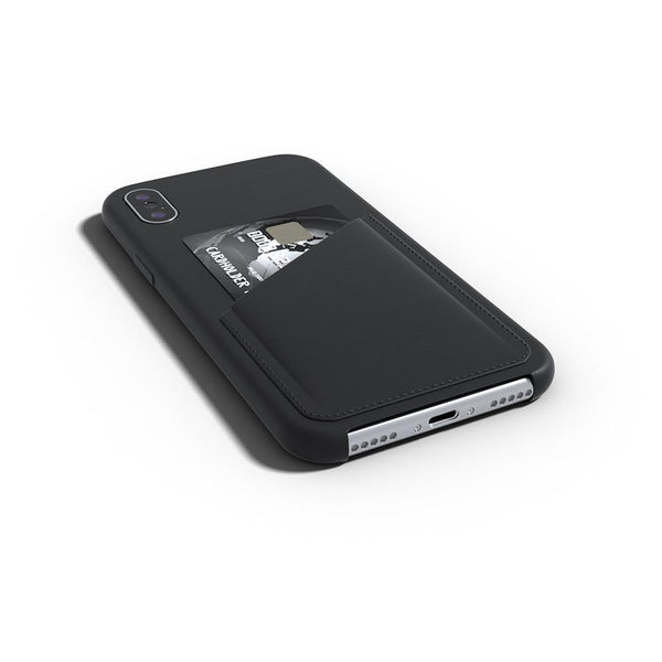 Ultra Slim Slot Card Leather Black Case for iPhone X