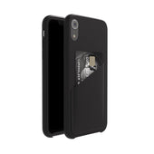 Ultra Slim Slot Card Leather Black Case for iPhone XR