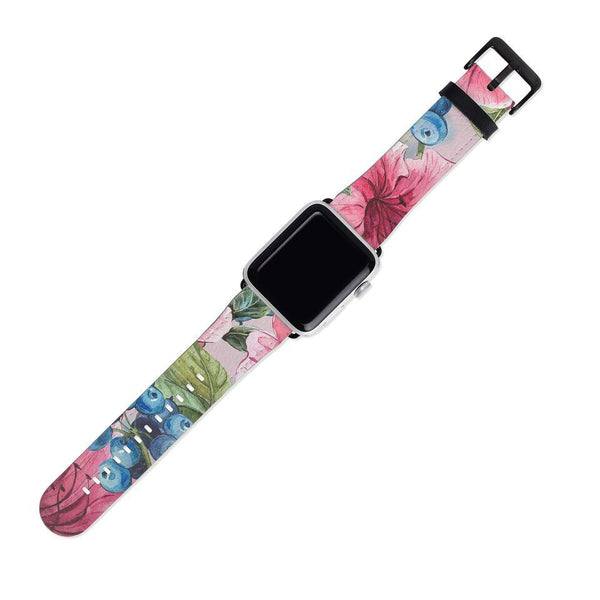 Pink and Blue Floral Pattern Floral 38MM
