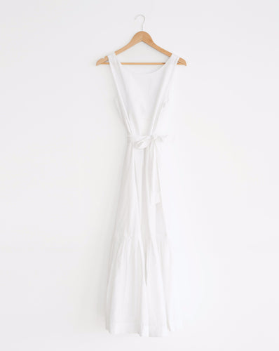 Fold Dress in White