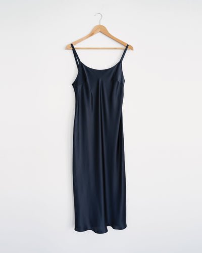 Scoop Neck Silk Slip Dress