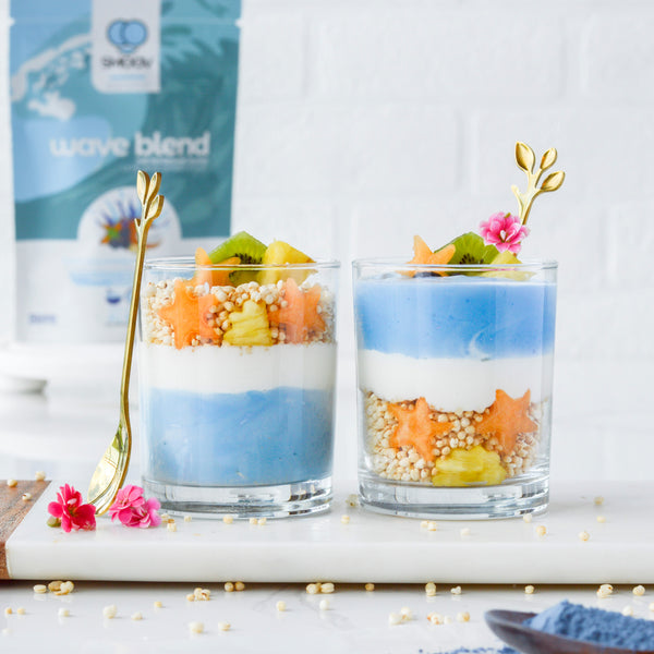 Tropical Ocean Yogurt Parfaits