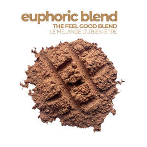 A serving of Smoov's euphoric blend: Treat yourself, don't cheat yourself. Enter euphoria, using raw and all natural cacao and superfoods that complement it oh-so-well, let this rich and nutritious blend take you to a land of chocolatey goodness where all your cravings are satisfied.