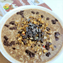 Load image into Gallery viewer, Chocolate oatmeal made using Smoov euphoric blend.