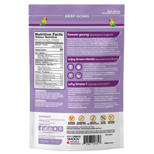 Load image into Gallery viewer, Back of Smoov Blends Berry Exotic Blend bag. Nutritional information, creative description, how to use, country of origin.