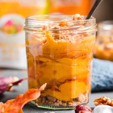 Load image into Gallery viewer, Butternut Squadh Pudding made using Smoov's fuel and golden blend. With nutrients for energy, focus, health and immunity. Certified Organic and plant based.