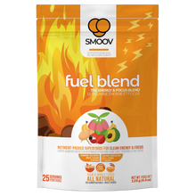 Load image into Gallery viewer, 25 servings of Smoov's fuel blend- guarana, goji berry, maca, lucuma and banana. For upto 8 hours of clean energy and focus without the crashes or jitters.
