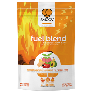 25 servings of Smoov's fuel blend- guarana, goji berry, maca, lucuma and banana. For upto 8 hours of clean energy and focus without the crashes or jitters.