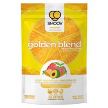 Load image into Gallery viewer, 25 servings of Smoov's golden blend. Made with camu camu, goji berry, maca, lucuma and carrot. To help prevent or fight cold and flu by improving immune system function and overall health.