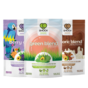 Make healthy FUN & EASY for kids: our delicious green blend, vibrant antioxidant-rich berry exotic blend and rich chocolatey euphoric blend
