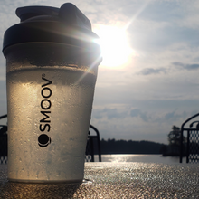 Load image into Gallery viewer, Smoov shaker bottle is a convenient way to hold water. Small enough to fit in a bag, but enough water to stay hydrated.
