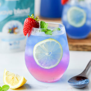 Sparkling wave refresher made using SMOOV wave blend. Mocktail packed with protein, antioxidants, vitamins for energy, digestion, health and immunity.