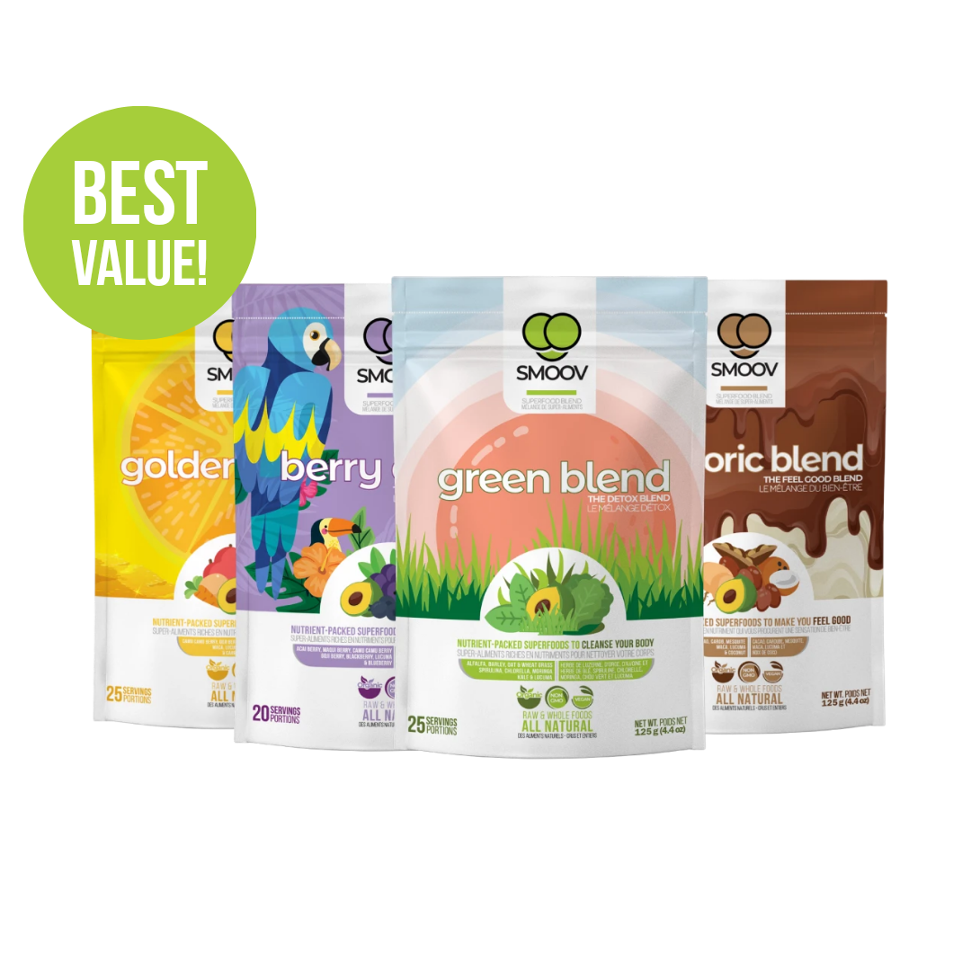 Our berry exotic blend has 8 antioxidant-rich superfoods, 7 of which are some of the world's most nutritious berries. Acai berry, Maqui berry, Red & Black Goji berry, Camu Camu berry, Blueberry, Blackberry & Lucuma.