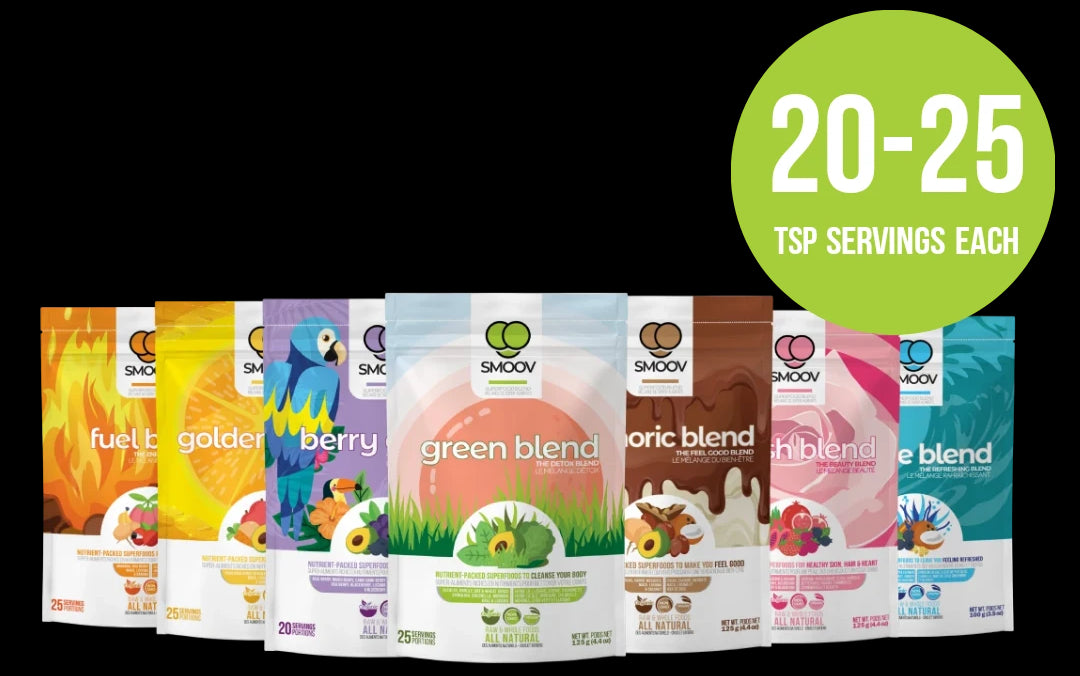 SMOOV Ultimate Health Bundle - Complete Array of Organic, Plant-based Nutrient-Packed Superfoods