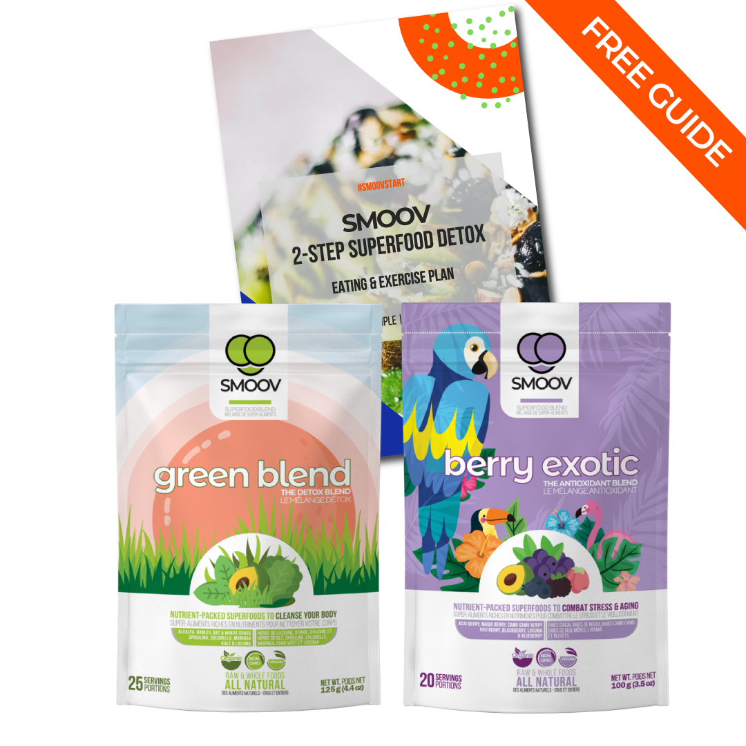 Smoov Detox Bundle- Powerful Superfood Blends to Detox, Cleanse & Maintain Good Health
