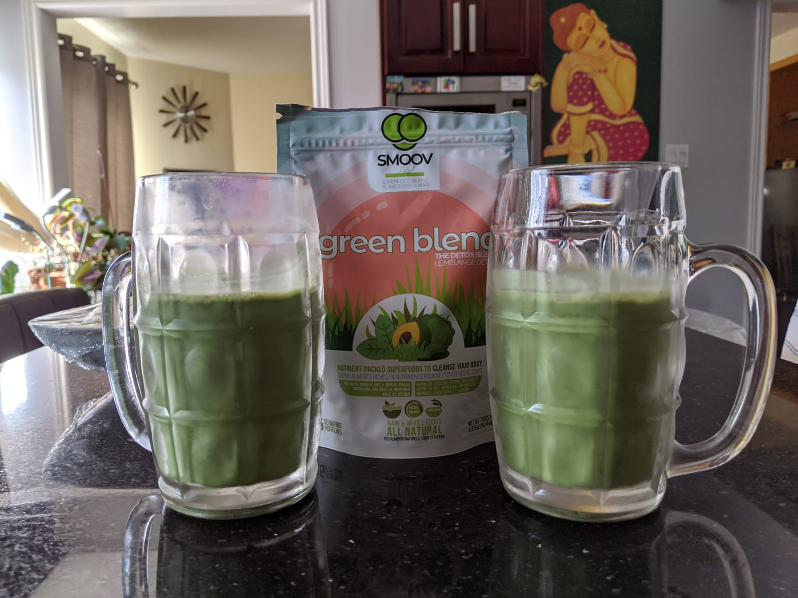 SMOOV green blend - Easiest all-natural way to get your greens and nutrition, 9 green superfoods making it the most complete blends of greens. Organic, Vegan, Plant-based Superfood  Powder Smoothie. Morning boost, detox, fight bloat, weight loss, digestion, immunity, health