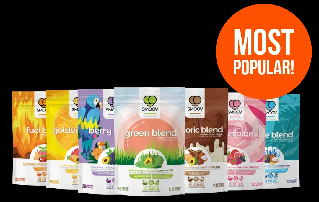 SMOOV ultimate health bundle: The easiest way to get your fruits & veggies. Raw, whole and convenient superfood powders.