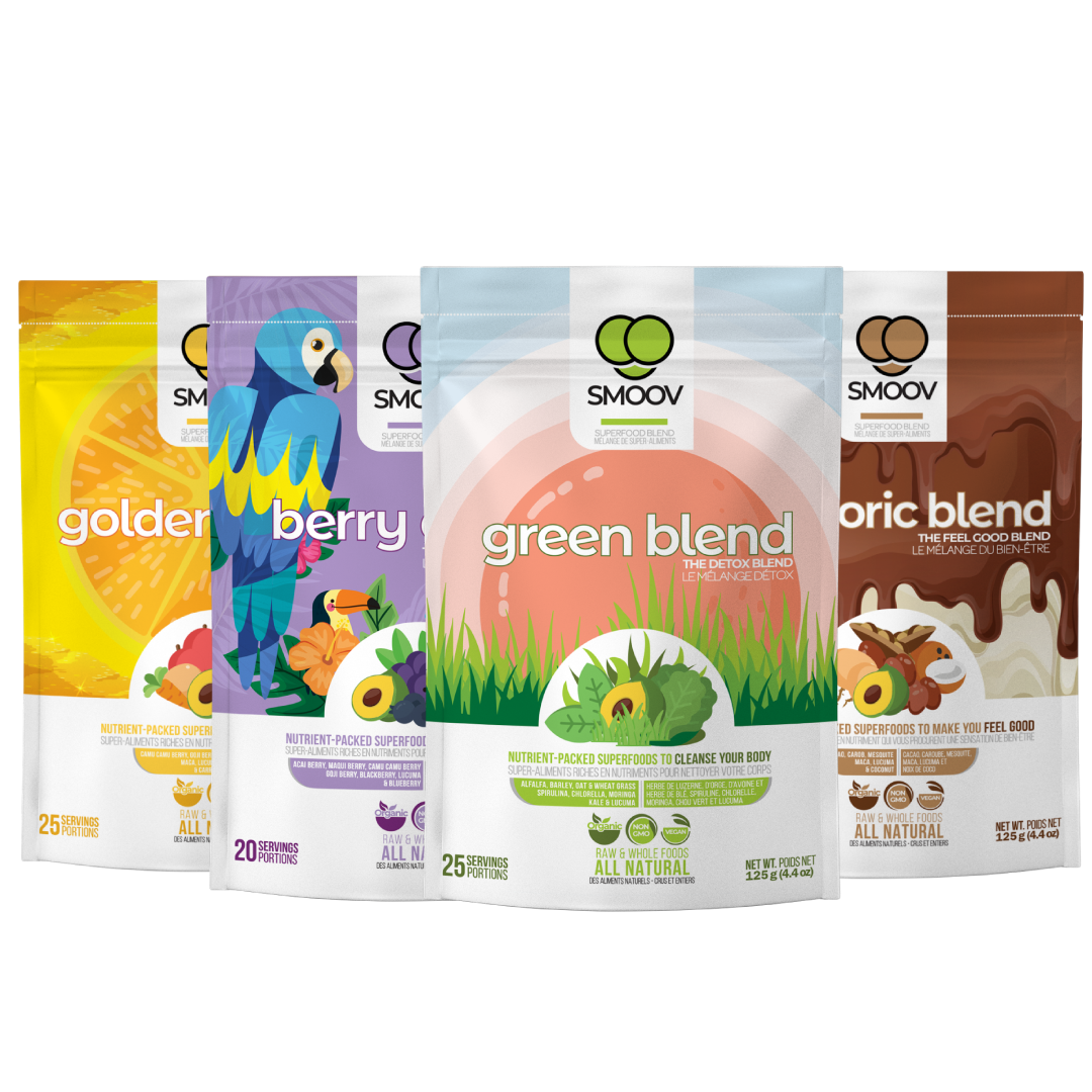 Smoov Health Essentials Bundle- Powerful Superfood Blends to Boost Health & Immunity