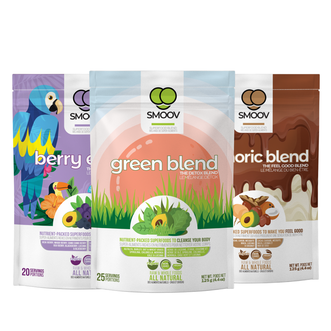 Smoov Healthy Kids Bundle-  Kid-friendly Superfood for Greens, Berries & Healthy Chocolate