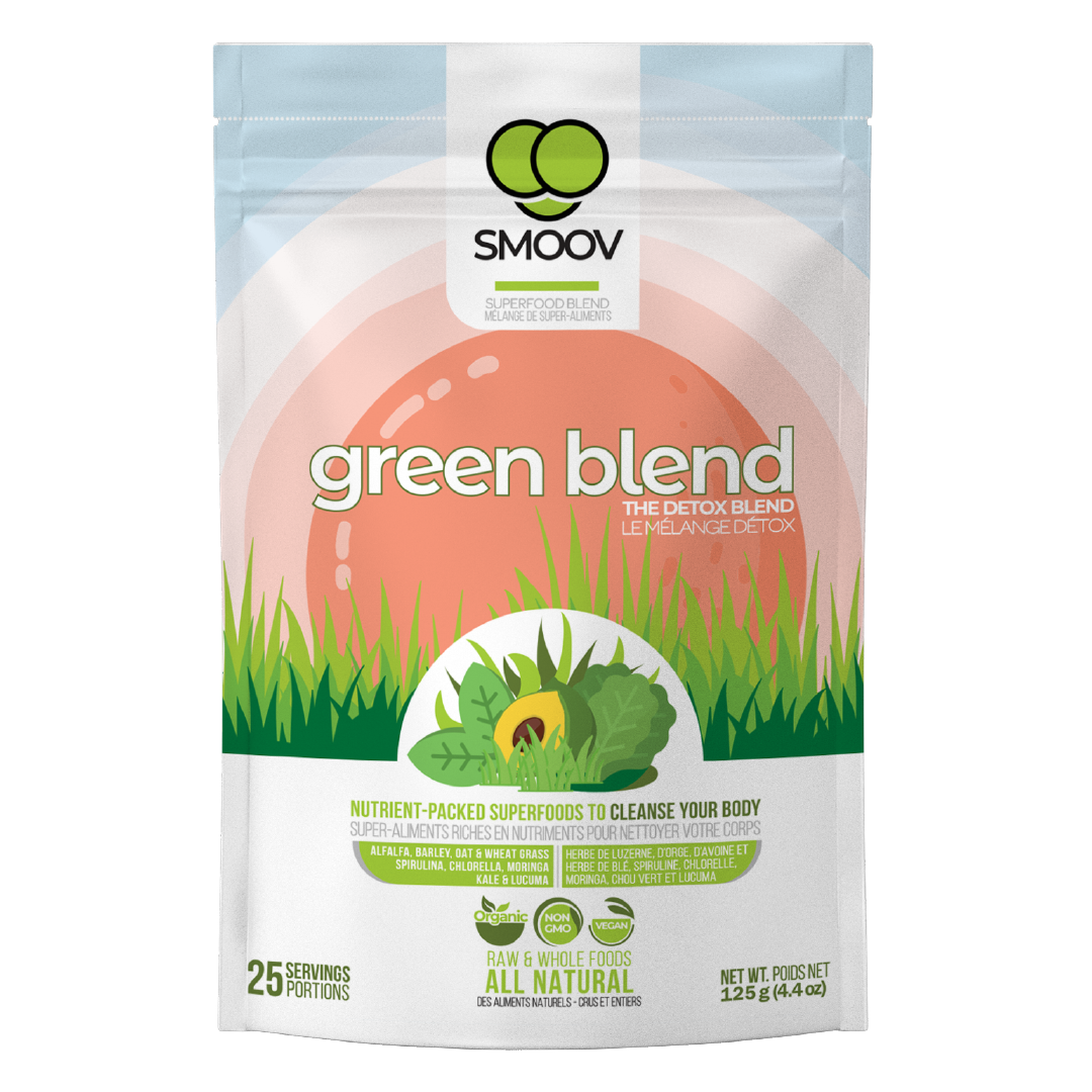 SMOOV green blend has 9 powerful & detoxifying foods that contain all essential nutrients for great overall health and immunity, making it the perfect addition to a weight loss diet.