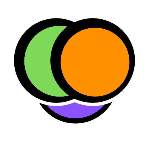 Icon for Smoov consisting of 3 circles- green, orange and purple, intersecting in the middle.