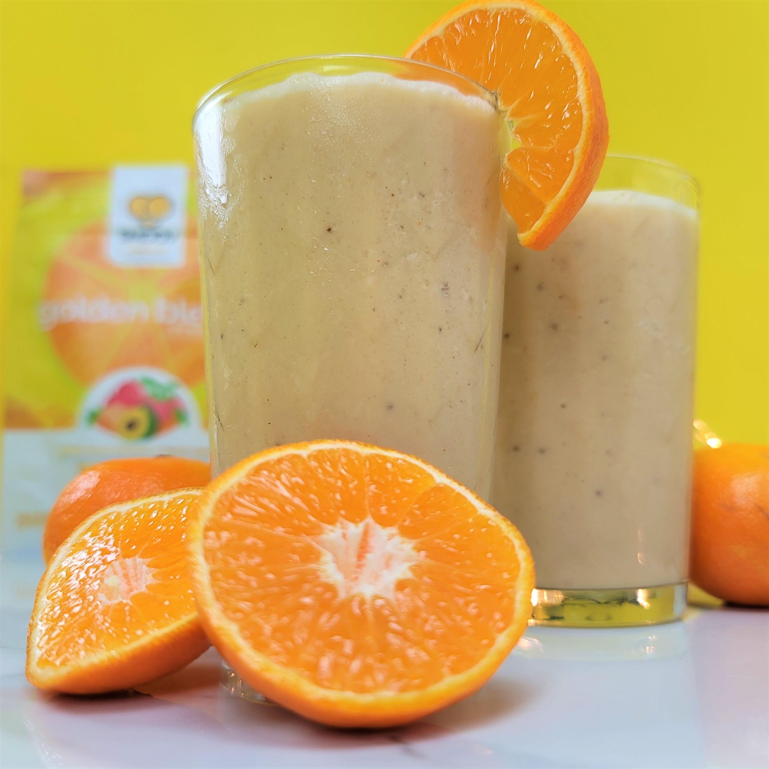 Wake up your immune system with this vibrant yellow smoothie! Delicious, super easy to make and packed with vitamins.