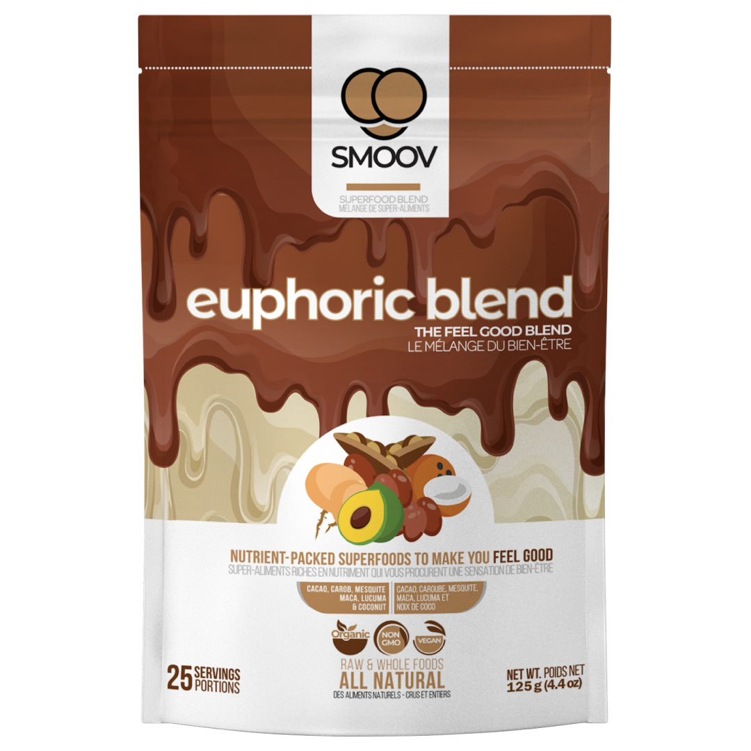 Enter euphoria, using raw and all natural cacao and superfoods that complement it oh-so-well, let our rich and nutritious euphoric blend take you to a land of chocolaty goodness where all your cravings are satisfied. Your perfect pick-me-up in avoiding processed sugars