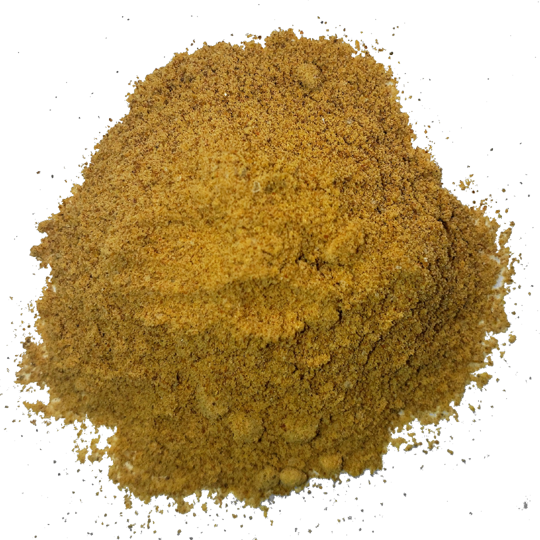A circle of rich light brown camu camu powder from Smoov blends. Made from organic camu camu berries- high in vitamin C