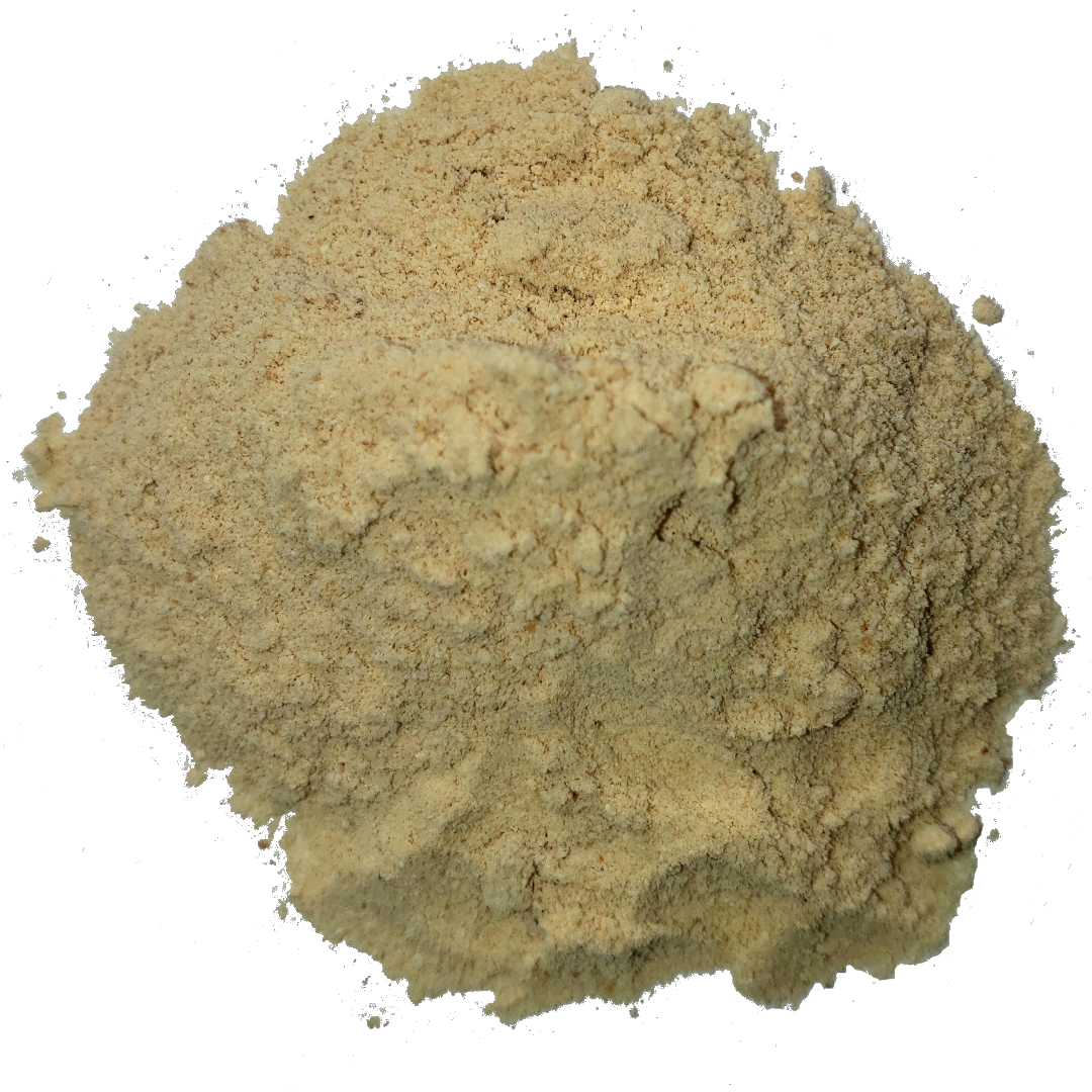 Circle of sweet fresh lucuma powder from Smoov Blends.