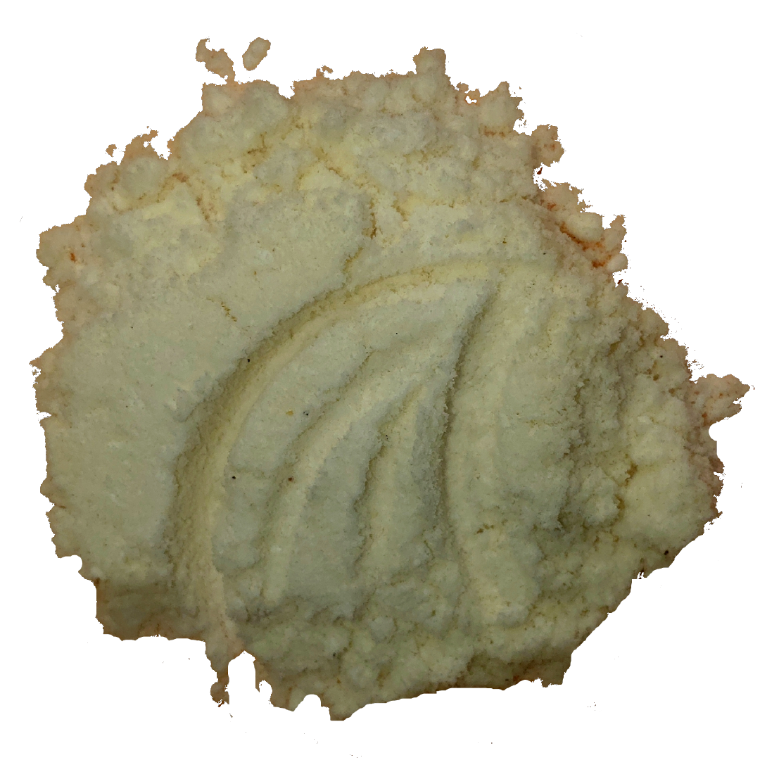 A circle of freshly ground coconut from Smoov Blends.