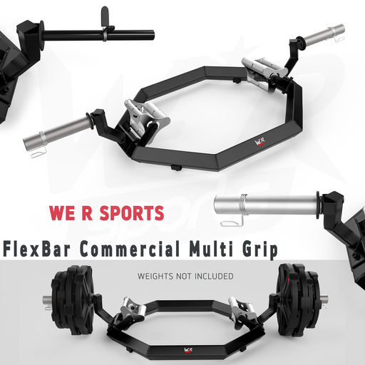 FlexBar Commercial Multi Grip Super Hex Trap Bar Dead Lift & Shrug Bar from WeRSports