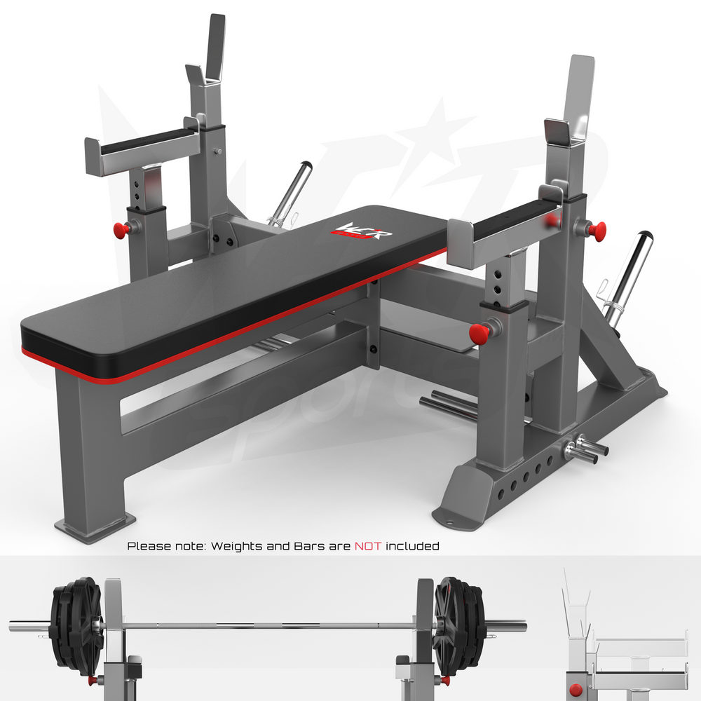 Commercial Weight Bench & Bar Rack & Weight Plate Rack Chest Press Bench Weights from WeRSports
