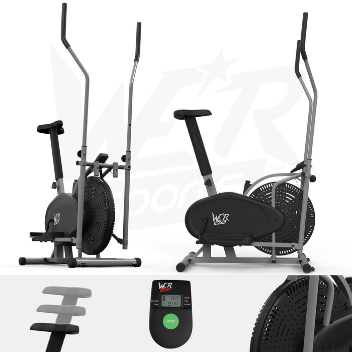 RevXtreme cross trainer and exercise bike silver from WeRSport