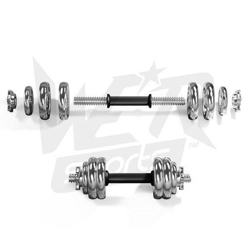 chrome dumbbell set