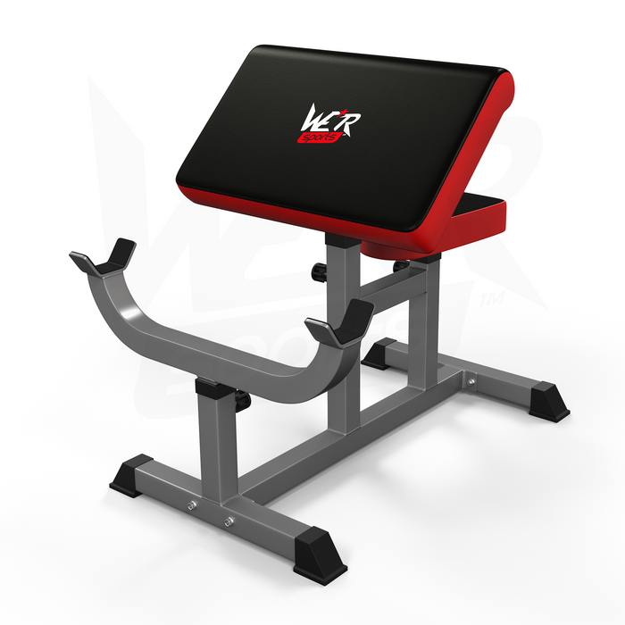 WeRSports black and red preacher bench
