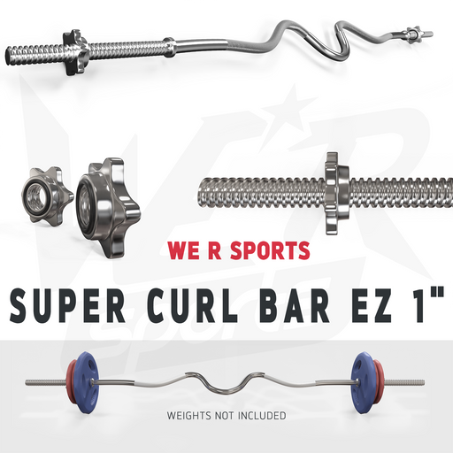 "FlexBar 1"" Super Curl Bar with SpinLock Collars from WeRSports"