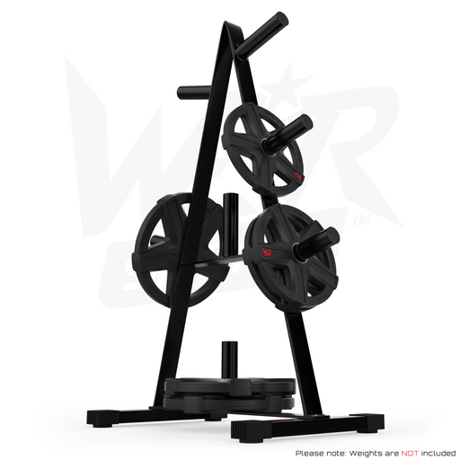 "Olympic Weight Plate Tree Rack Stand Storage For 2"" Plates Discs 7 Bar Holder from WeRSports"