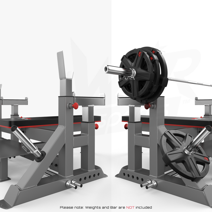 Commercial weight bench with and without weights