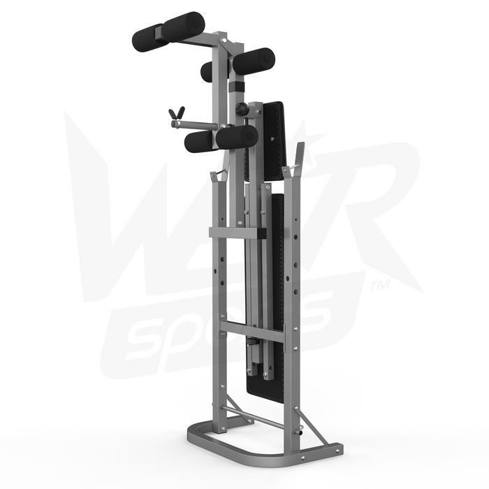 XBench standard folding weight bench from WeRSports comes in silver and black